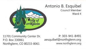 Antonio B. Esquibel business card