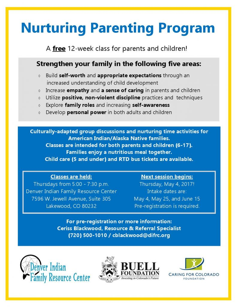Nurturing Parenting Program @ DIFRC Office