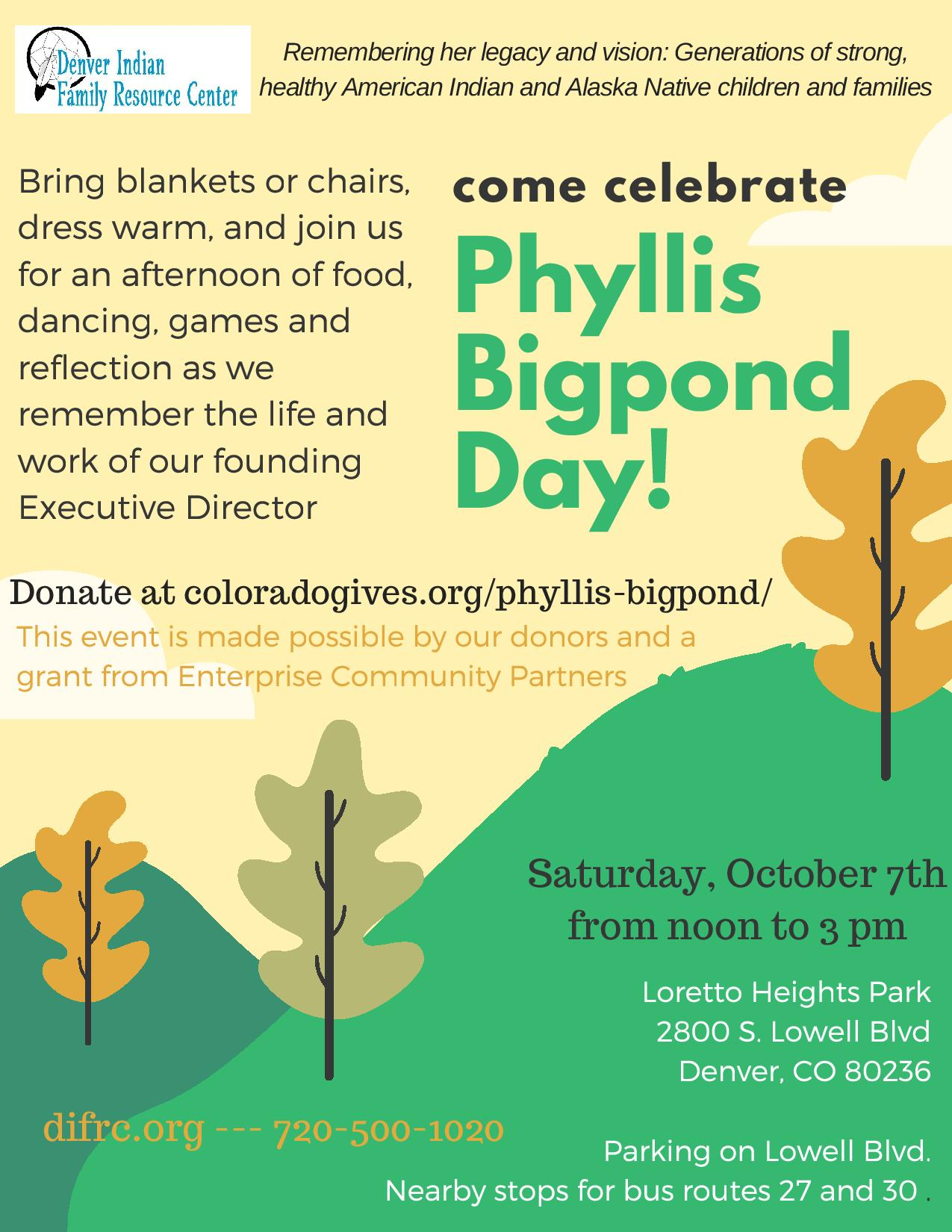 Phyllis Bigpond Day - Denver Indian Family Resource Center