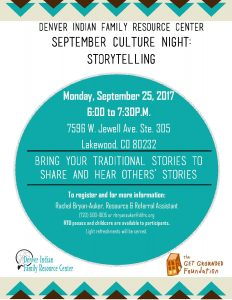 September Culture Night: Storytelling @ DIFRC Office